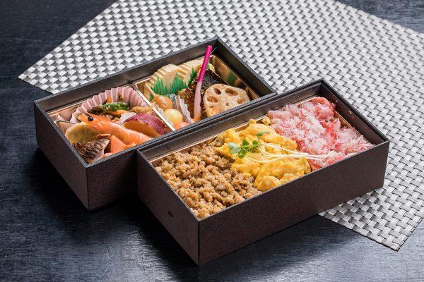 三色弁当 蟹